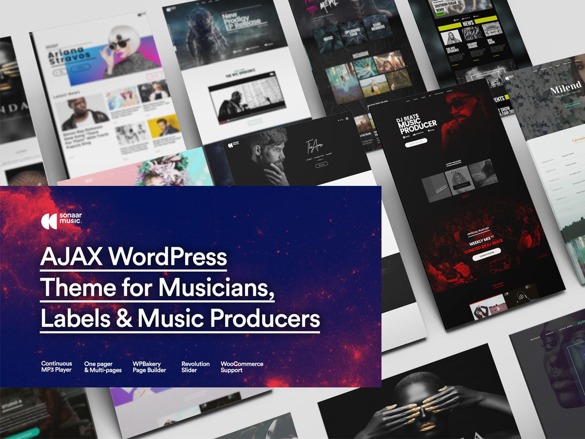 Sonaar - 40+ Awesome WordPress Themes For Music [year]