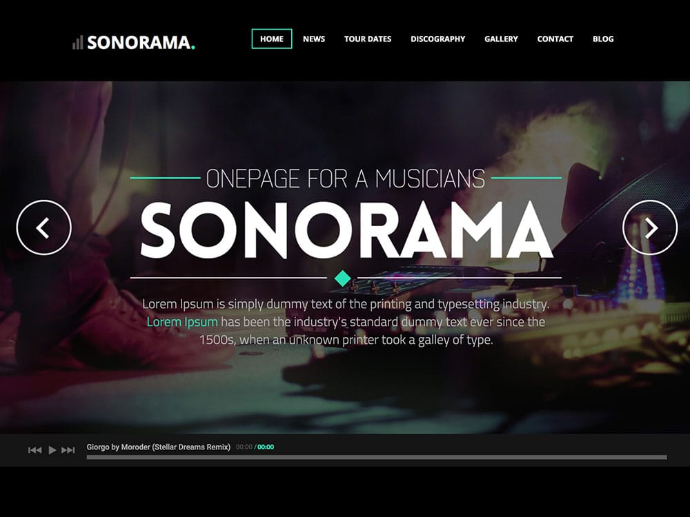 Sonorama - 40+ Awesome WordPress Themes For Music [year]