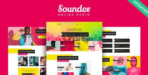 Sounder - 35+ Nice WordPress Themes For Nightclub [year]
