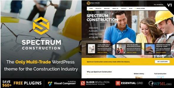 Spectrum-1 - 36+ Awesome Plumbers WordPress Themes [year]