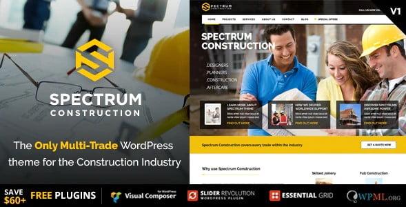 Spectrum - 36+ Amazing Electricians WordPress Themes [year]