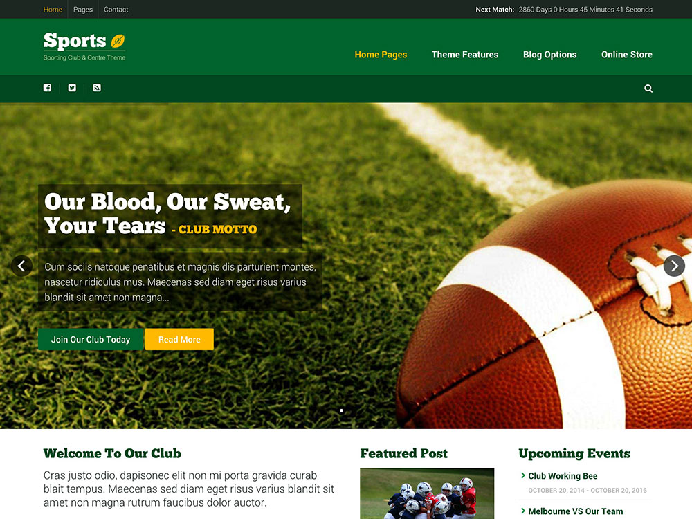 Sport - 31+ Nice WordPress Themes For Sports [year]