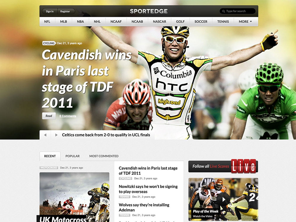Sportedge - 31+ Nice WordPress Themes For Sports [year]