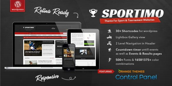 Sportimo - 36+ Nice WordPress Golf Themes For Golf Clubs Websites [year]