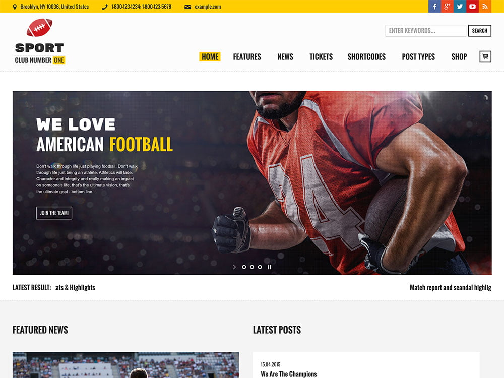 Sports-Club - 31+ Nice WordPress Themes For Sports [year]