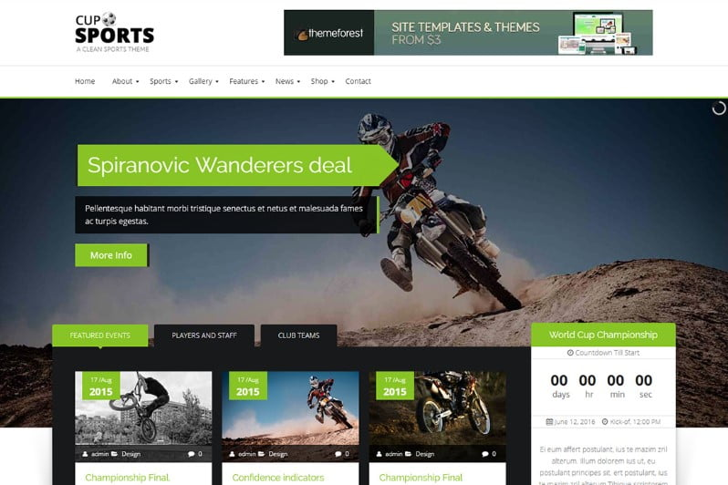 Sports-Cup - 36+ Nice WordPress Golf Themes For Golf Clubs Websites [year]