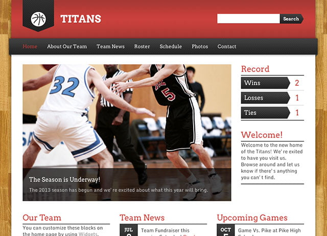 Sports-Team-Theme - 31+ Nice WordPress Themes For Sports [year]