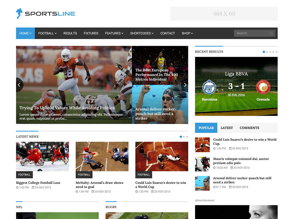Sportsline - 31+ Nice WordPress Themes For Sports [year]