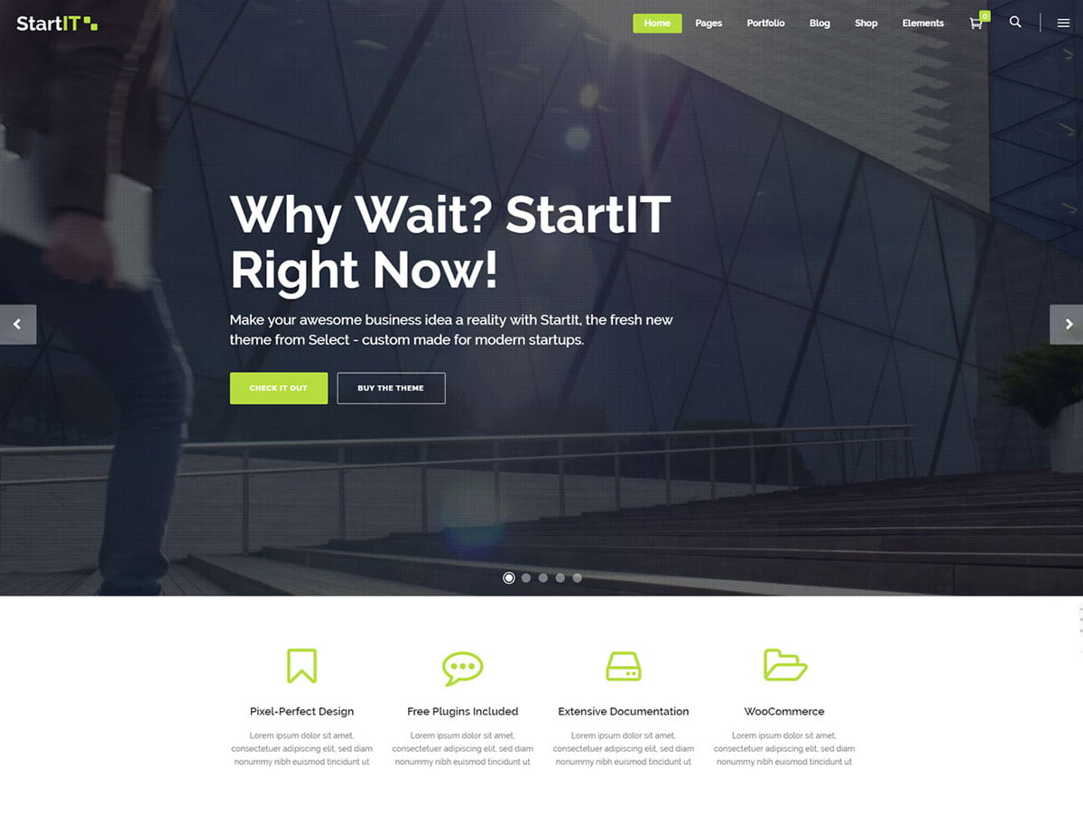 StartIt - 60+ Nice WordPress Themes For Business [year]