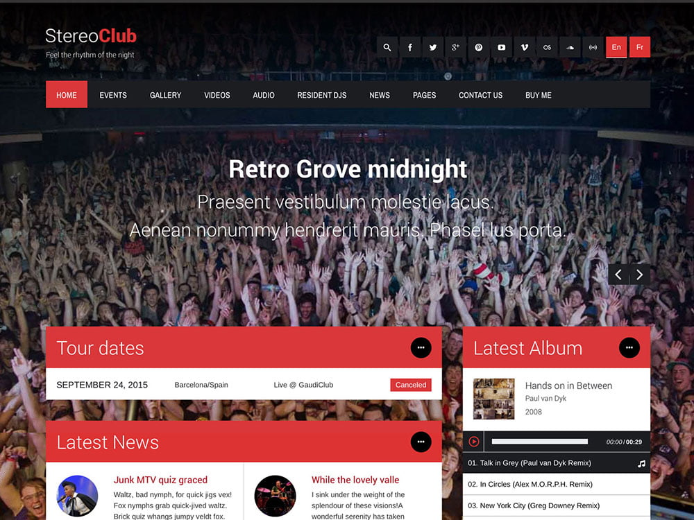 StereoClub-1 - 40+ Awesome WordPress Themes For Music [year]