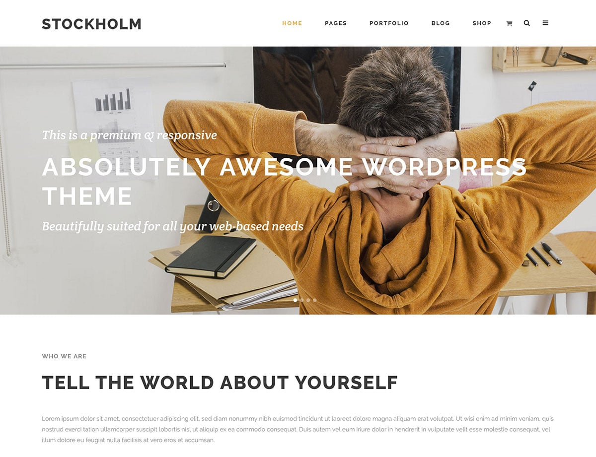 Stockholm - 35+ Nice WordPress Themes For Multipurpose [year]