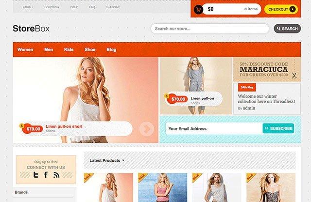 StoreBox - 36+ Top WordPress Themes For Ecommerce [year]