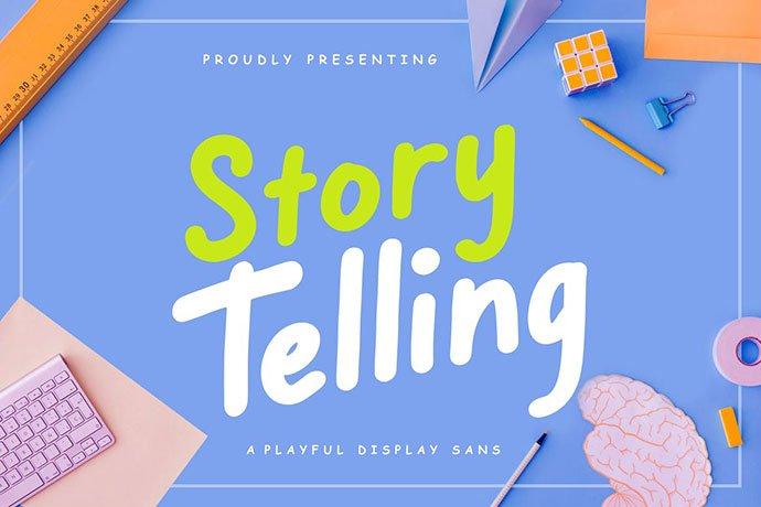Story-Telling-Fun-Font