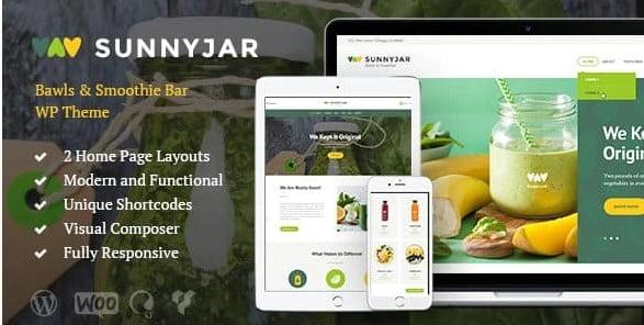 SunnyJar-1 - 36+ Top Quality WordPress Themes For Coffee Shop [year]