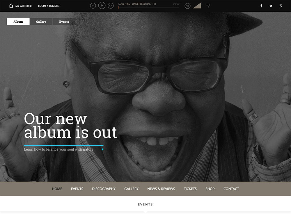 Superstar - 40+ Awesome WordPress Themes For Music [year]
