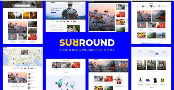 Surround - 36+ Awesome WordPress Themes For Podcast [year]