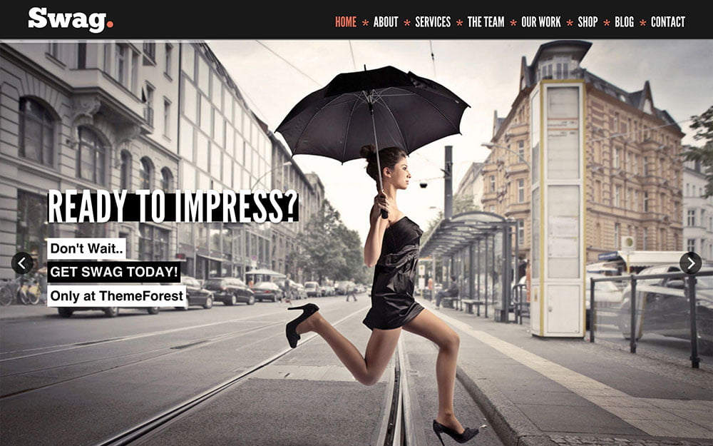 Swag - 41+ Amazing WordPress Parallax Themes For You [year]