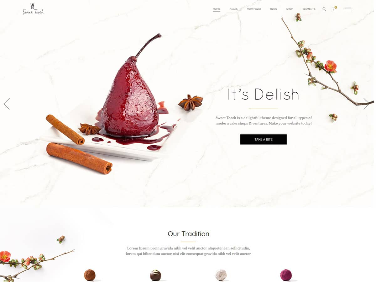 Sweet-Tooth - 30+ Amazing Bakeries WordPress Themes [year]