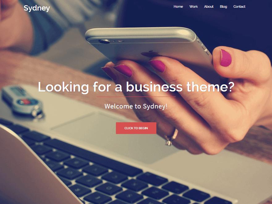 Sydney - 46+ Nice Free WordPress Portfolio Themes [year]