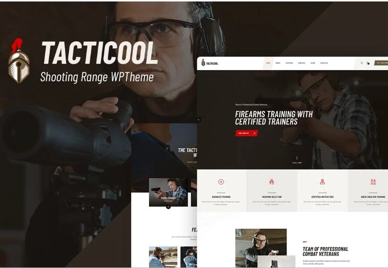 Tacticool - 35+ Nice Hunting and Weapon For WordPress Themes [year]