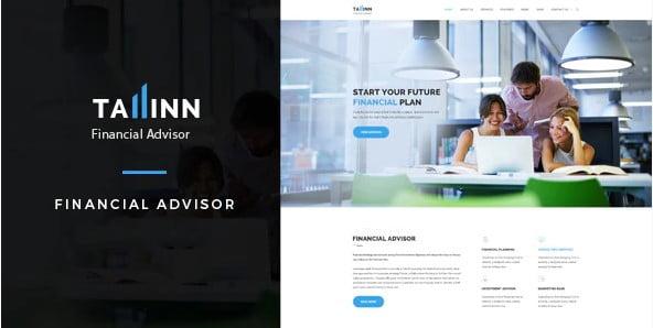 Tallinn - 36+ Amazing WordPress Insurance Themes [year]