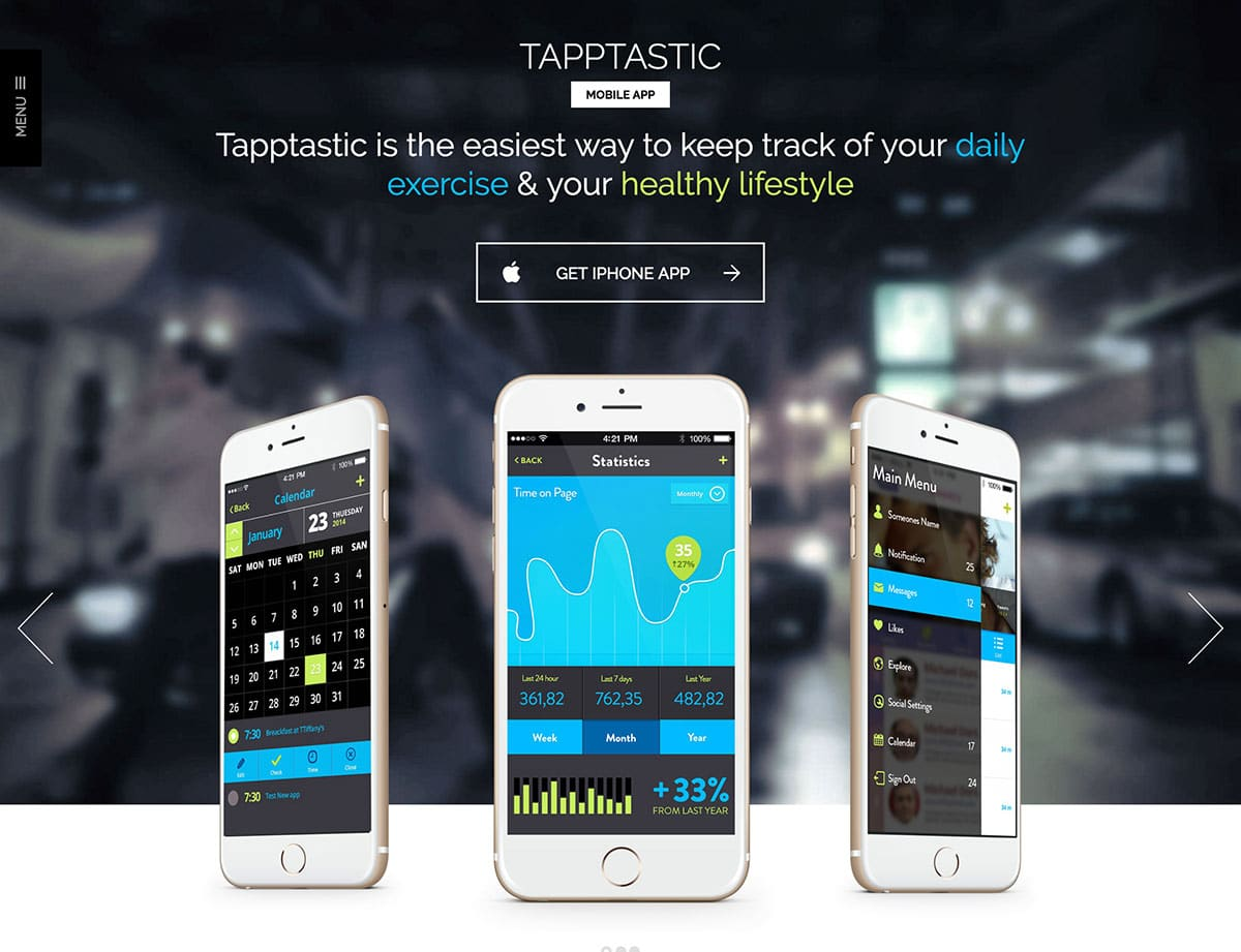 Tapptastic - 40+ Amazing WordPress App Showcase Themes [year]