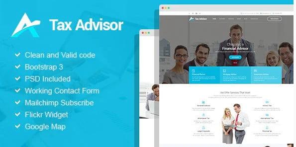 Tax-Advisor - 36+ Amazing WordPress Insurance Themes [year]