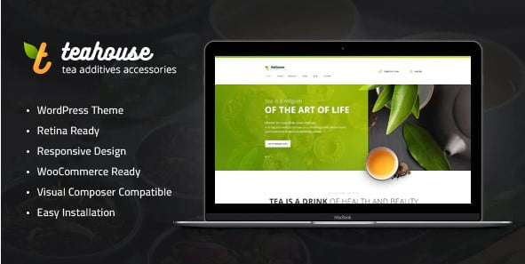 TeaHouse - 36+ Top Quality WordPress Themes For Coffee Shop [year]
