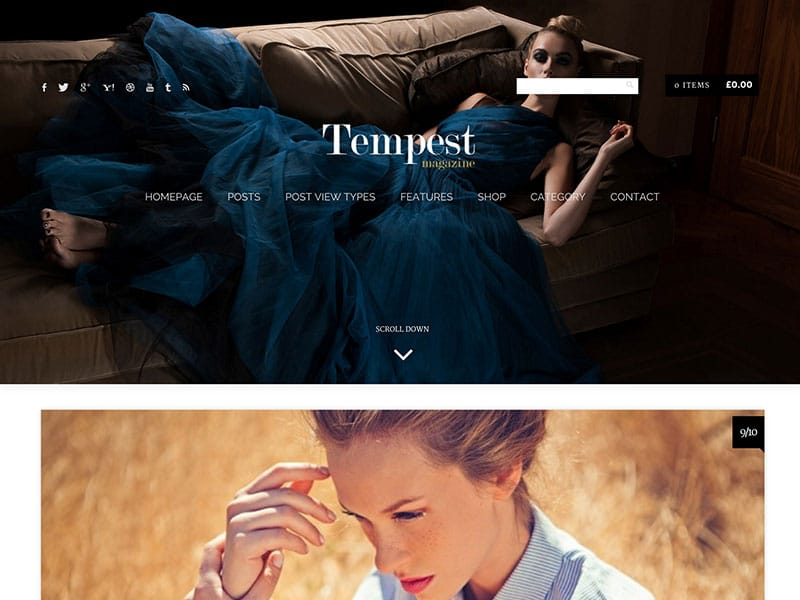 Tempest - 36+ Nice WordPress Themes For Fashion Blog [year]