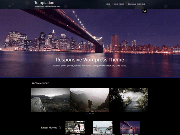 Temptation - 51+ Nice Free WordPress Themes For Photography [year]