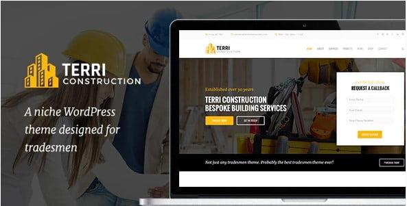Terri - 36+ Awesome Plumbers WordPress Themes [year]