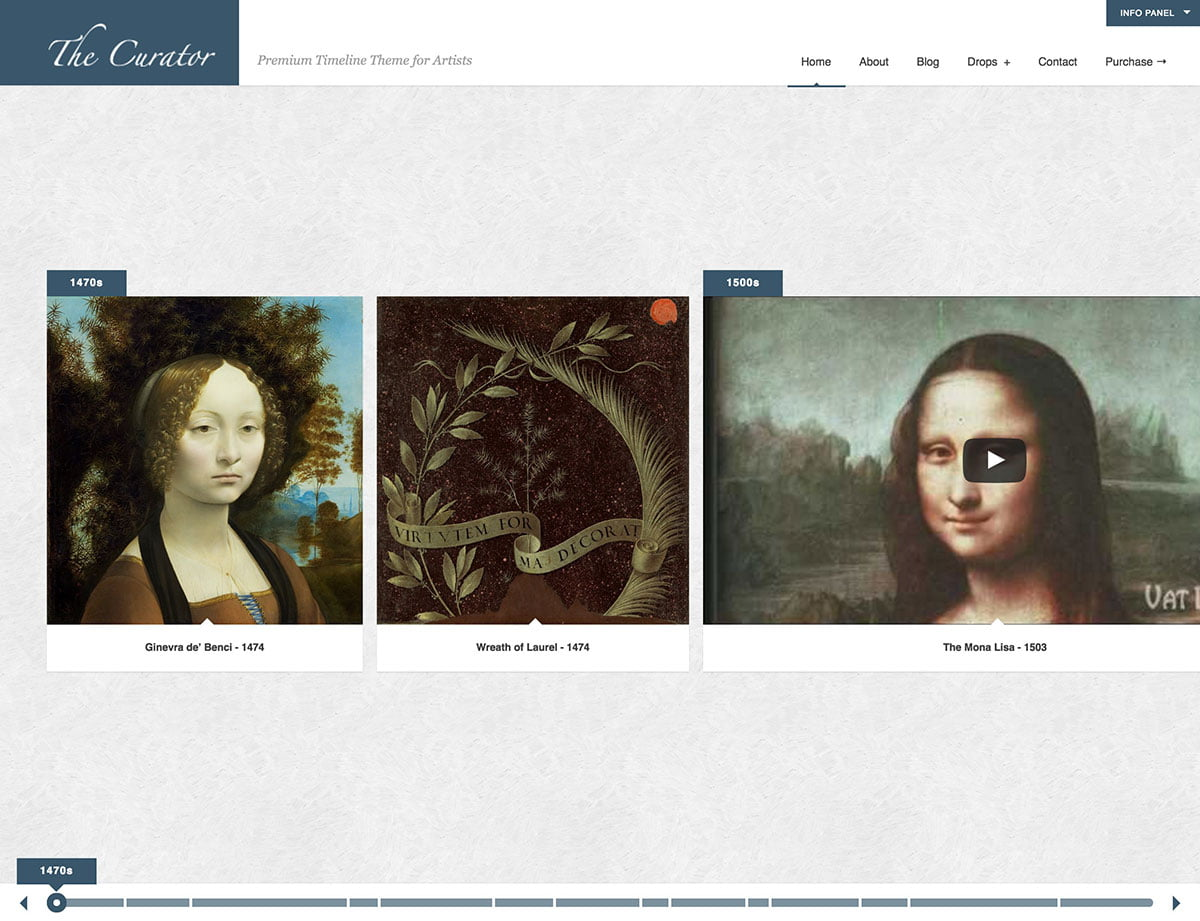 The-Curator - 31+ Awesome WordPress Themes For Artists [year]