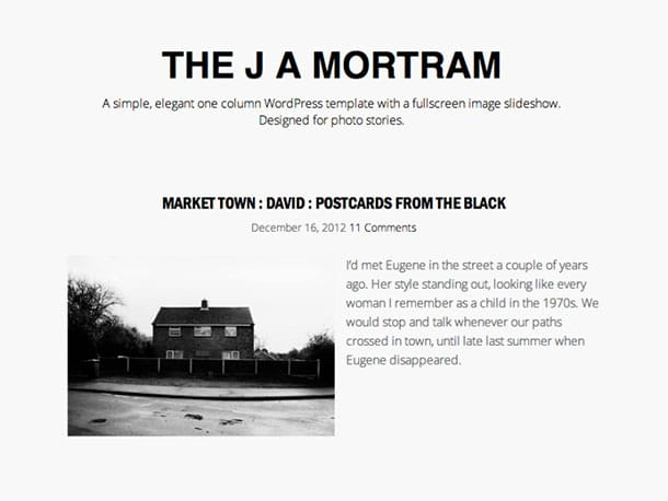 The-J-A-Mortram - 51+ Nice Free WordPress Themes For Photography [year]