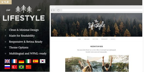 The-Lifestyle - 36+ Best Quality Retro WordPress Themes [year]
