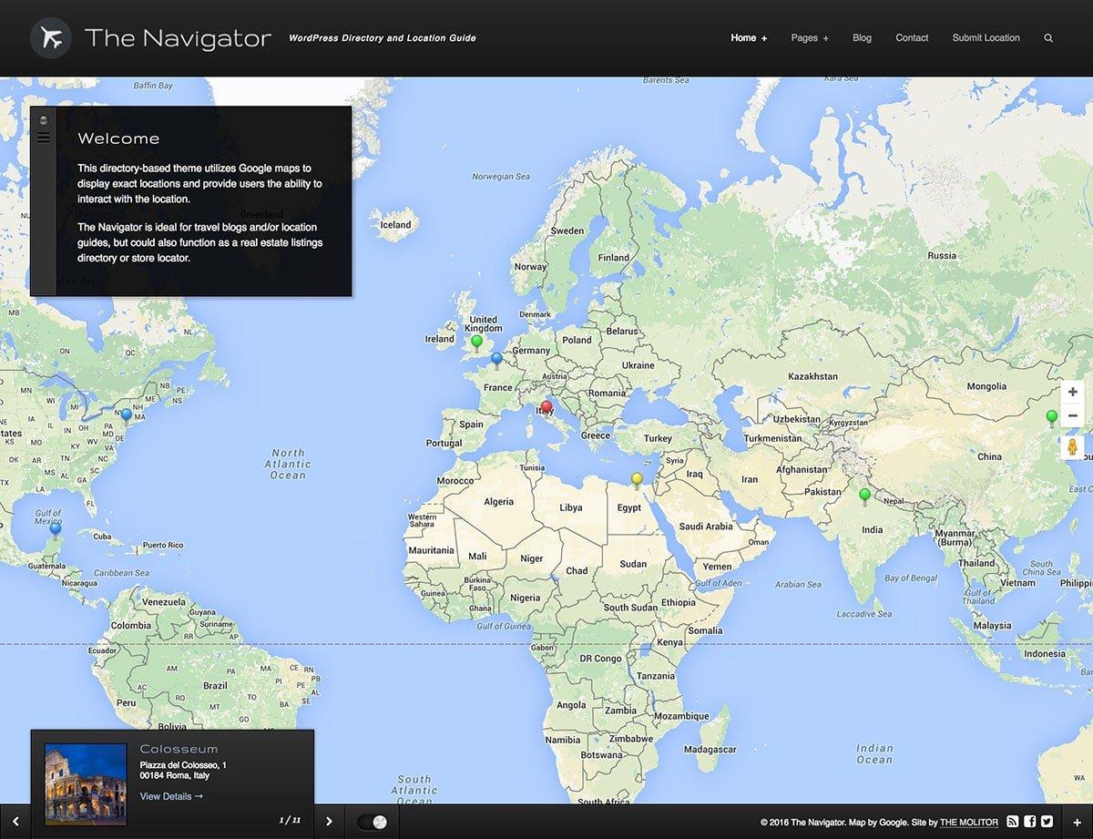 The-Navigator - 46+ Stunning WordPress Directory Themes [year]