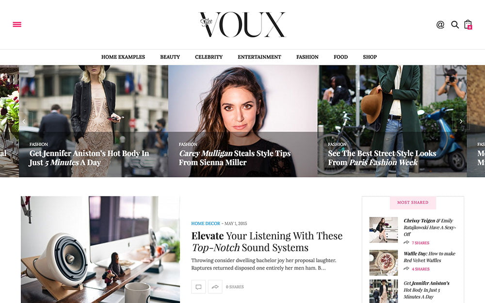The-Voux - 36+ Nice WordPress Themes For Fashion Blog [year]