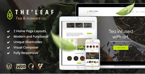 TheLeaf-1 - 36+ Top Quality WordPress Themes For Coffee Shop [year]