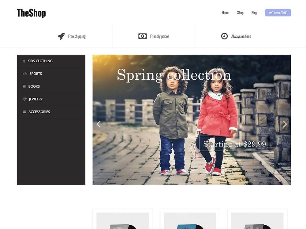 TheShop - 51+ Awesome Free WordPress Themes For Ecommerce [year]