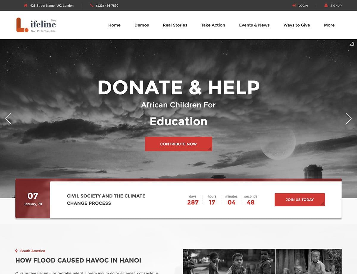 Themes-Non-Profit-Charity - 36+ Amazing WordPress Themes For Non-Profit, Charity [year]