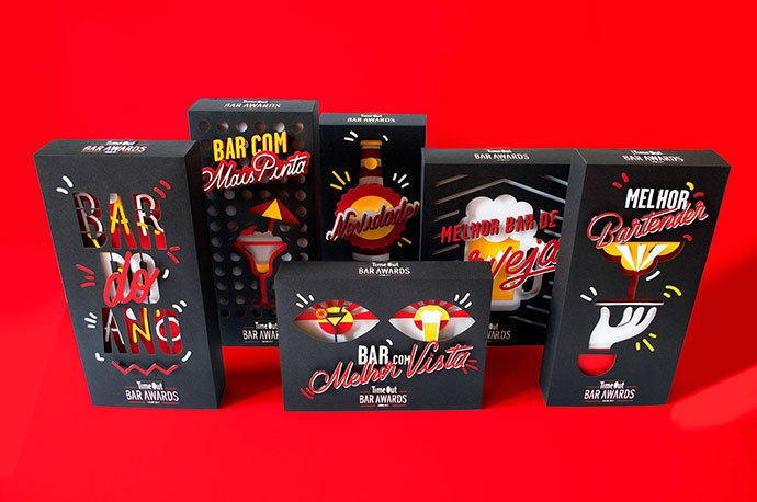 Time-Out-Bar-Awards - 35+ Awesome Die Cut Packaging Designs Template [year]