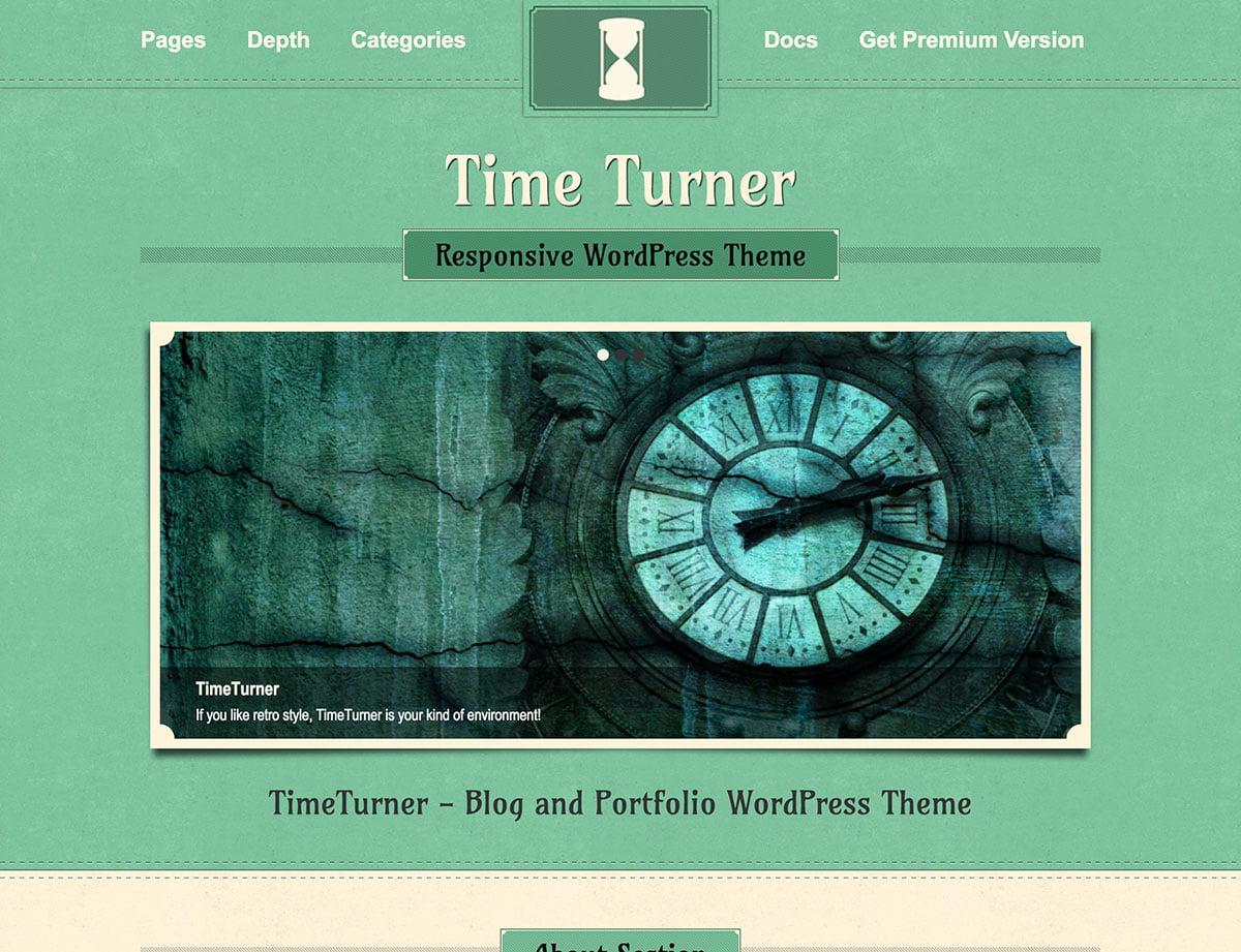 TimeTurner - 46+ Nice Free WordPress Portfolio Themes [year]