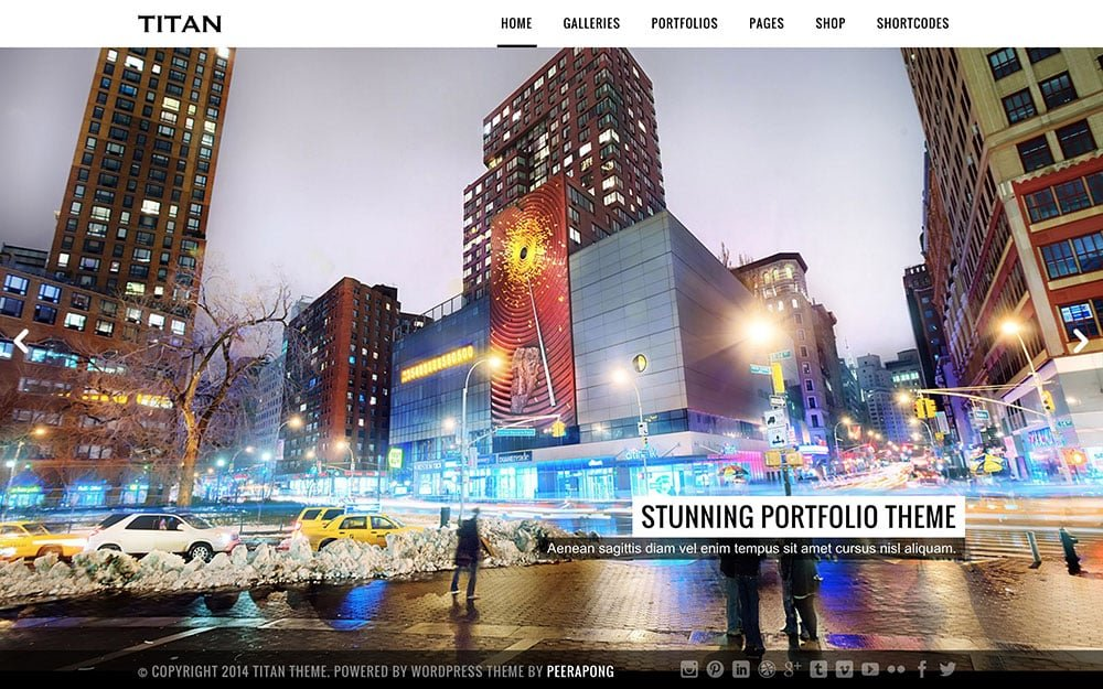 Titan - 36+ Top Quality WordPress Themes For Photography [year]