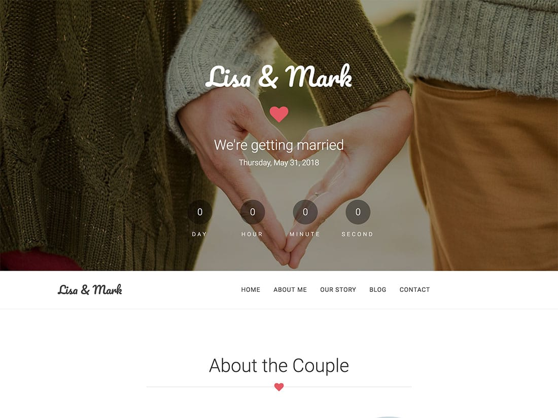 Together - 36+ Elegant Free WordPress Wedding Themes [year]
