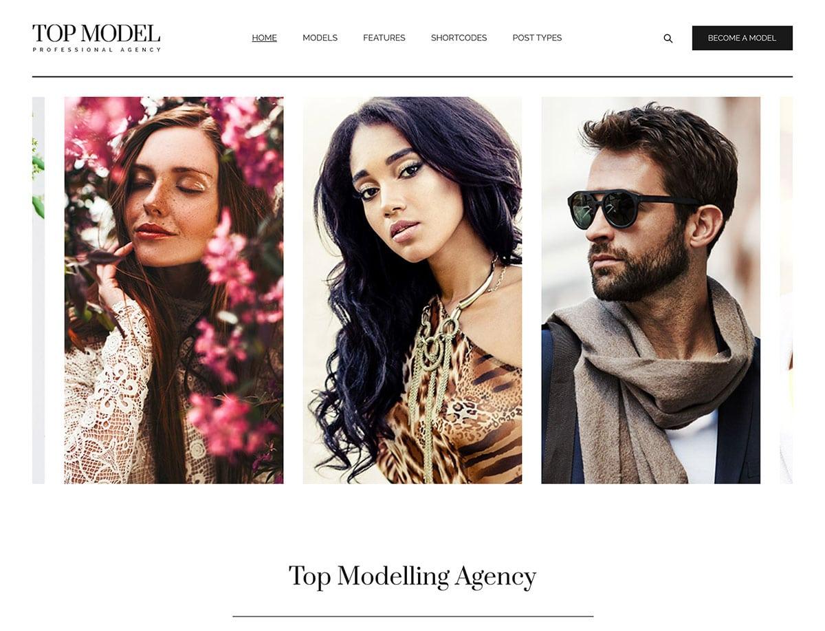 Top-Model-1 - 36+ Nice WordPress Model Agency Themes [year]