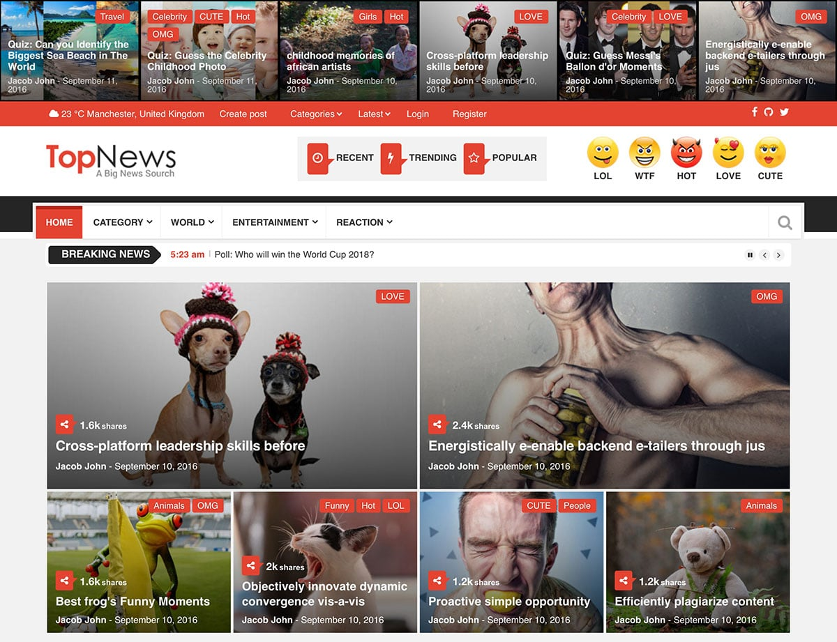 TopNews - 30+ Top Quality WordPress Themes For Viral [year]