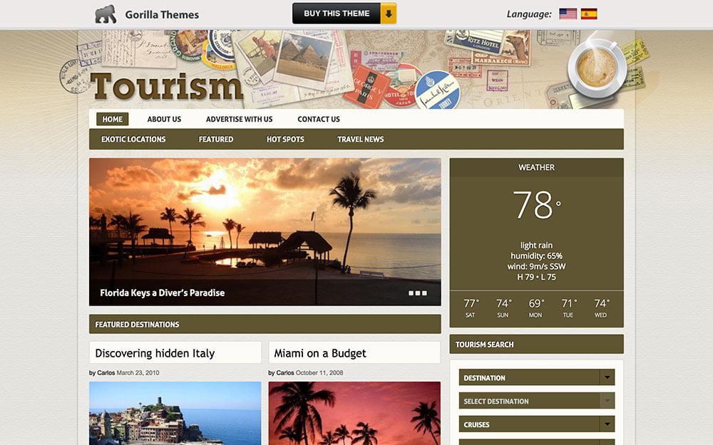 Tourism - 36+ Amazing Travel, Agencies, Hotels WordPress Themes [year]