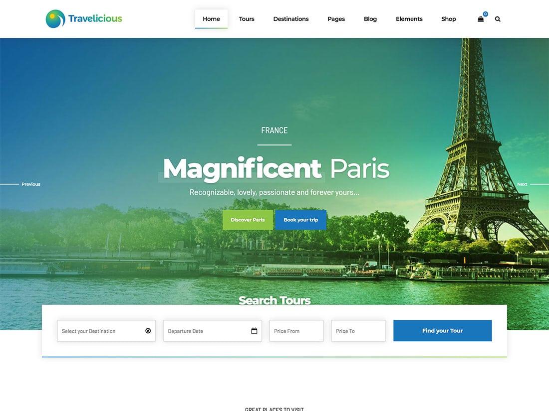 Travelicious - 36+ Amazing Travel, Agencies, Hotels WordPress Themes [year]