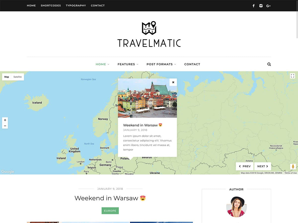 Travelmatic - 30+ Awesome Travel Blog WordPress Themes [year]
