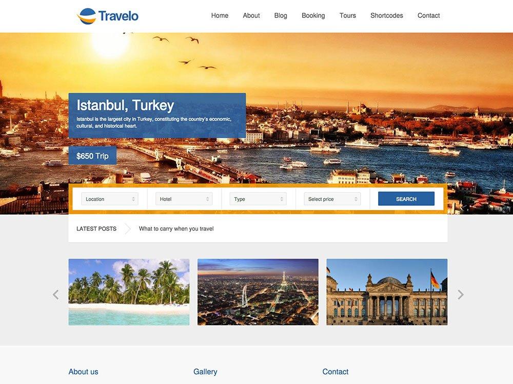 Travelo-1 - 36+ Amazing Travel, Agencies, Hotels WordPress Themes [year]