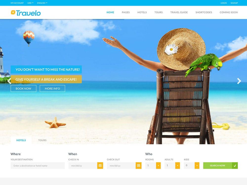 Travelo - 36+ Amazing Travel, Agencies, Hotels WordPress Themes [year]